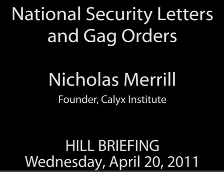 NATIONAL SECURITY LETTERS & GAG ORDERS