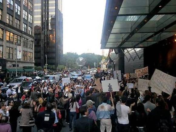 PRESIDENTE ARGENTINO Sra. Cristina Fernandez  Viuda de Kirchner en New  York en NEW YORK