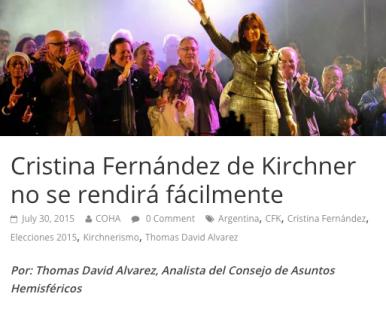 CFK NO SE RENDIRA FACILMENTE 2015 - 2019