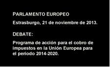 PARLAMENTO EUROPEO DEBATE IMPUESTOS