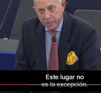 ESTE LUGAR (El Parlamnto Europeo al que se esta dirigiendo) NO ES LA EXCEPCION...