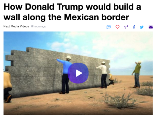 TRUMP and WALL TO MEXICO